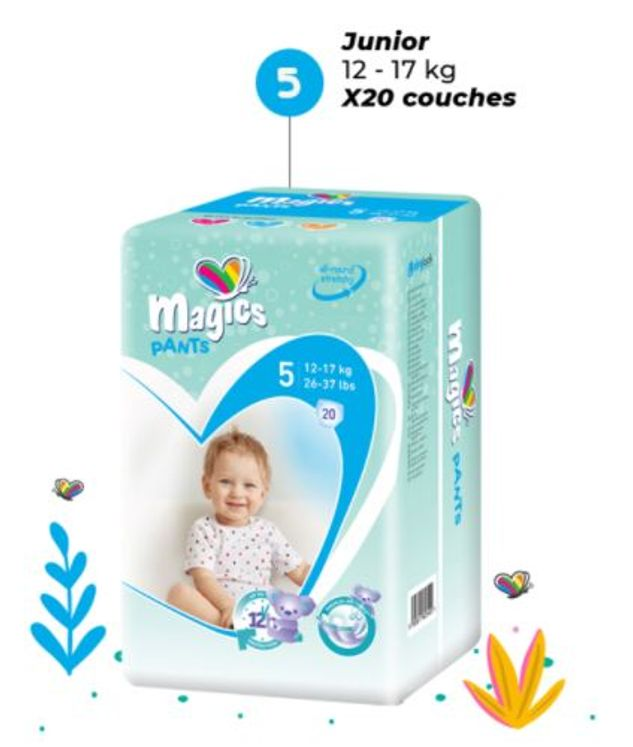 COUCHES CULOTTE MAGICS TAILLE 5  (1 PAQUET)